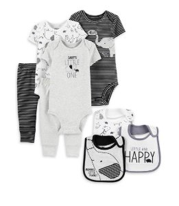 KIT MINI ENXOVAL COORDENADO  ELEFANTE CHILD OF MINE BY CARTER'S