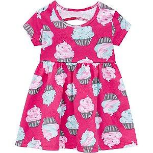 Vestido Rosa Cupcake Kyly