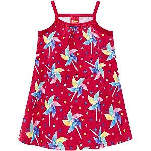 Vestido Vermelho Cata-Vento Kyly