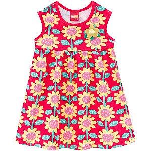 Vestido Floral Vermelho Kyly