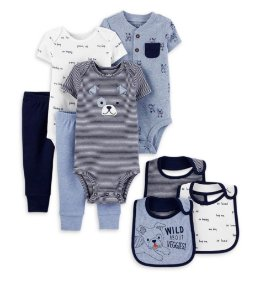 KIT MINI ENXOVAL DOG COORDENADO  CHILD OF MINE BY CARTER'S