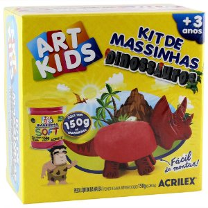 KIT MASSINHAS DINOSSAURO ART KIDS