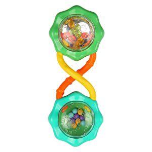 Brinquedo Chocalho Rattle E Shake Barbell Verde Bright Starts
