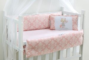 Kit Mini Berço 7pçs Gatinha Rosa Encanto Brubreleu Baby