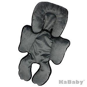 Almofada Suporte Completo Reversível de Cabeça e Corpo Cinza KaBaby