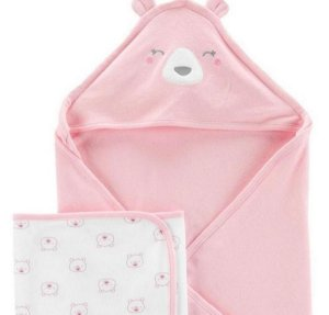 Kit 2 Toalhas Urso Rosa Child Of Mine by Carter's
