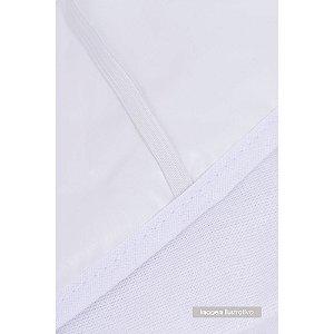 Protetor Acolchoado Para Colchão De Tamanho Americano 1,30m X 70cm Branco Papi