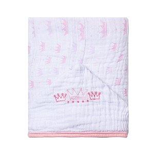 Toalha De Banho Soft Com Capuz Bordado 90X75cm Princesa Rosa Papi