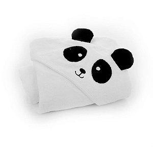 Toalha Com Capuz 75x75cm Panda Infanti