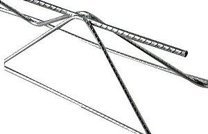 Treliça H16 (Ø 7Mm Superior/Ø 4.2Mm Diagonal/Ø 5Mm Inferior), Altura 16 Cm, Comprimento 6 Metros