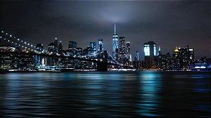 Painel Fotográfico Nova York Noturno 2,60 Largura x 2,60 Altura