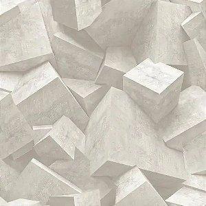 Papel de Parede Hexagone L505-07 - 0,53cm x 10m