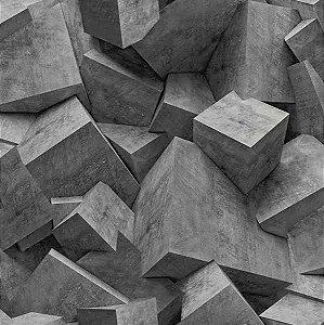 Papel de Parede Hexagone L505-19 - 0,53cm x 10m