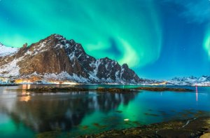 Painel Fotográfico Aurora Boreal - 2,50 Largura x 2,50 Altura