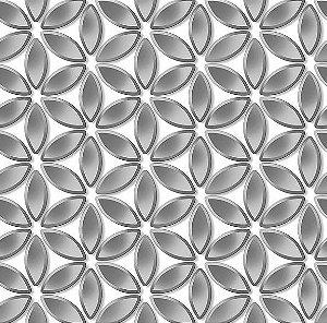 Papel de Parede Hexagone L522-19 - 0,53cm x 10m