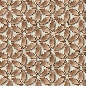 Papel de Parede Hexagone L522-08 - 0,53cm x 10m