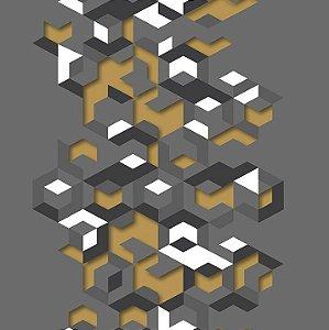 Papel de Parede Hexagone L577-02 - 0,53cm x 10m