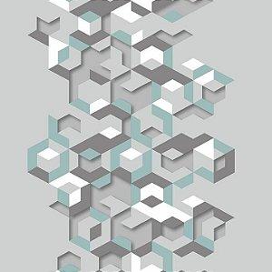 Papel de Parede Hexagone L577-11 - 0,53cm x 10m
