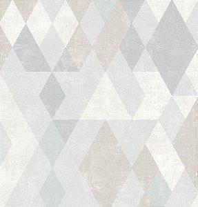 Papel de Parede Hexagone L598-07 - 0,53cm x 10m