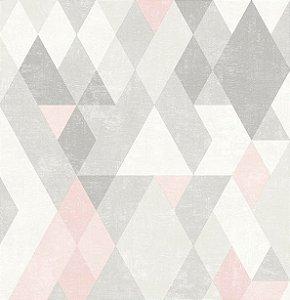 Papel de Parede Hexagone L598-03 - 0,53cm x 10m