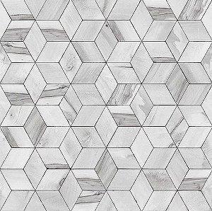Papel de Parede Hexagone L592-09 - 0,53cm x 10m