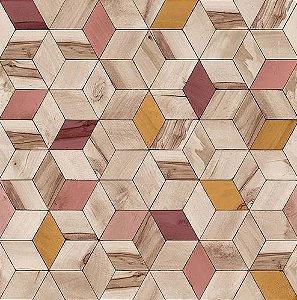 Papel de Parede Hexagone L593-10 - 0,53cm x 10m