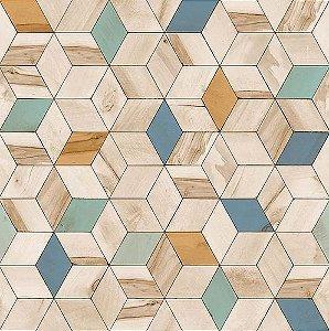 Papel de Parede Hexagone L593-01 - 0,53cm x 10m