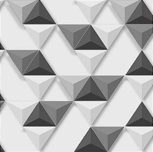 Papel de Parede Hexagone L575-09 - 0,53cm x 10m