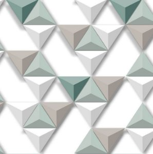 Papel de Parede Hexagone L575-04 - 0,53cm x 10m