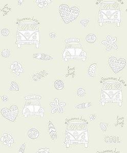 Papel de Parede Pure Kids & Teens KT68431 - 0,53cm x 10m
