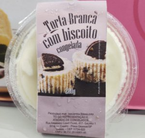 Torta Branca com Biscoito