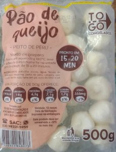 Pão de Queijo de Peito de Peru com Catupiry 500g