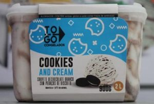 Sorvete Artesanal Cookies and Cream 2 litros
