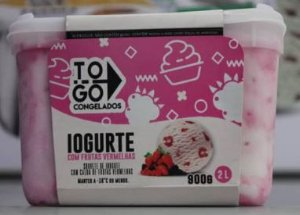 Sorvete Artesanal Iogurte com Frutas Vermelhas 2 litros