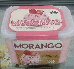 Sorvete Morango 2 litros