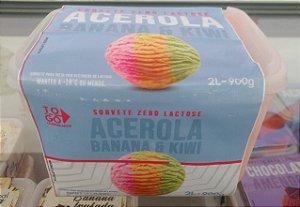 Sorvete Zero Lactose Acerola Banana & Kiwi 2 litros