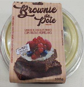 Brownie no Pote com Ganache de Chocolate Branco e Frutas Vermelhas, 200g