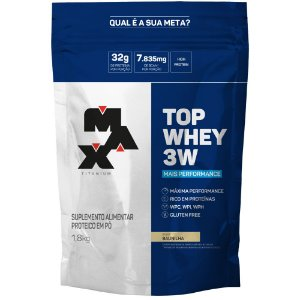 Top Whey 3W Mais Performance 1,8Kg Max Titanium
