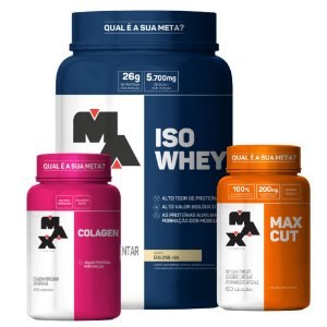 KIT EMAGRECIMENTO: ISO WHEY + MAX CUT + COLAGEN