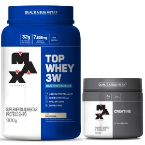 KIT TREINO HARD: Top Whey 3W + Performance + Creatine