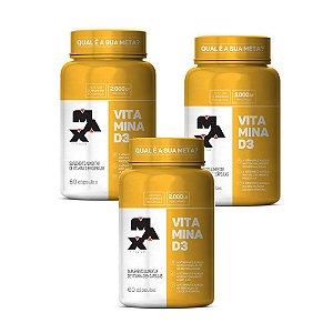 KIT 3x Vitamina D3 60 Caps Max Titanium