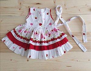 Vestido branco estampa morango - RN