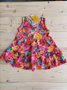Vestido estampa floral - Malwee 24 meses