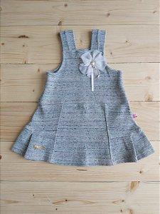 Vestido cinza mescla - Kiki Xodó 3 anos