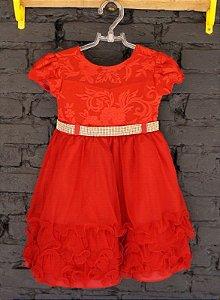 Vestido festa vermelho - 2-3 anos