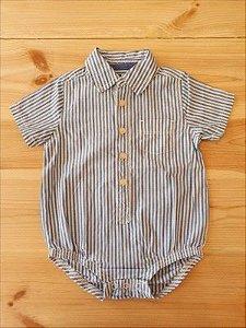 Body camisa manga curta - Oshkosh 9-12 meses