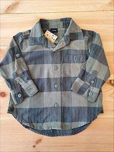 Camisa manga longa xadrez - GAP 12 meses