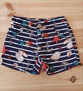 Shorts listrado mar - Pulla 3 anos