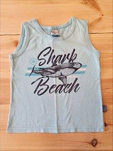 Camiseta regata tubarão - Pulla Bulla 3 anos