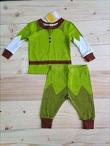 Conjunto camiseta + calça Peter Pan - Disney  6-9 meses